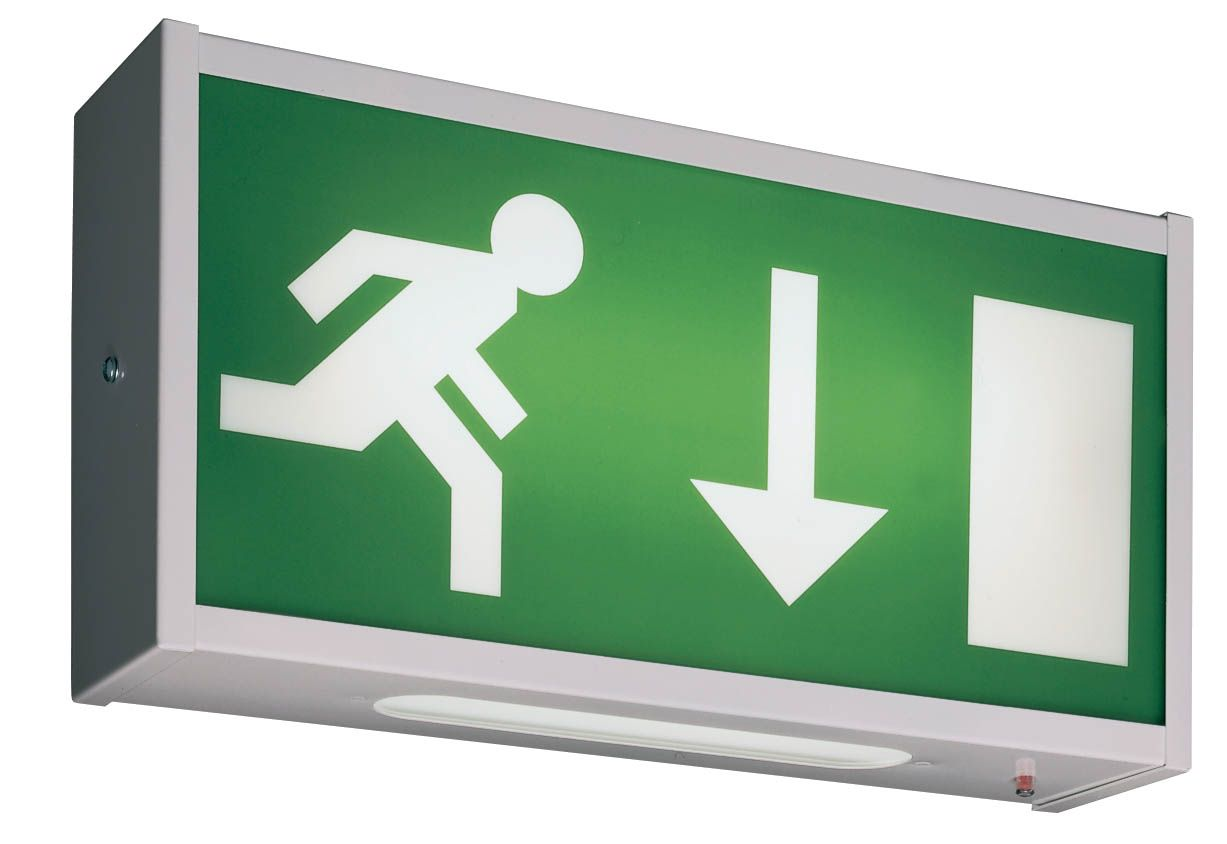 Maintained Emergency Exit Light Running Man Symbol